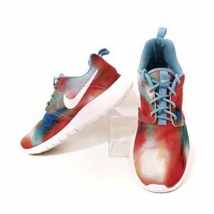 Nike Roshe Run Flyknit tie dye sneakers 4.5 youth